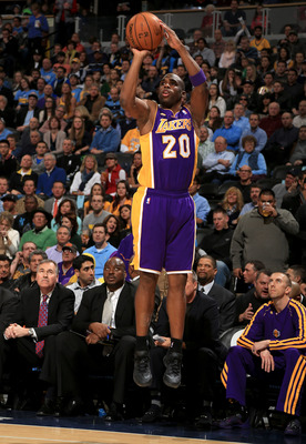 Jodie Meeks didn't knock down as many threes as the Lakers had hoped.
