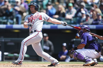 Second baseman Dan Uggla continues to struggle at the plate for the Atlanta Braves.