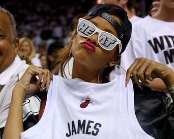 Even Rihanna got in on the Heat's house party.