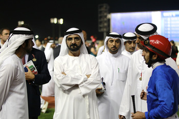Mohammed bin Rashid Al Maktoum at the UAE Derby.