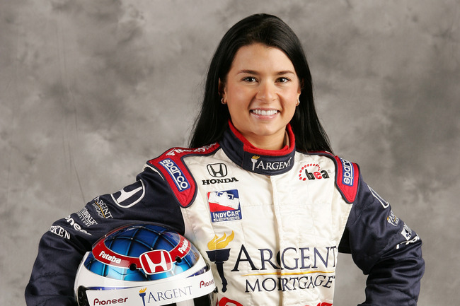 HOMESTEAD, FL- JANUARY 21 : Portrait of Danica Patrick, driver of the #16 Rahal Letterman Racing Panoz Honda during the media photo day at the IRL IndyCar Series testing on January 21, 2005 at the Homestead-Miami Superspeedway in Homestead, Florida. (Phot