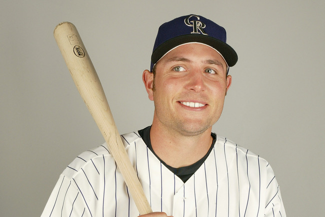 TUCSON - FEBRUARY 28:  Outfielder Matt Holliday #5 of the Colorado Rockies during the 2004 MLB Spring Training Photo Day at Hi Corbett Field on February 28, 2004 in Tucson, Arizona. (Photo by Harry How/Getty Images)