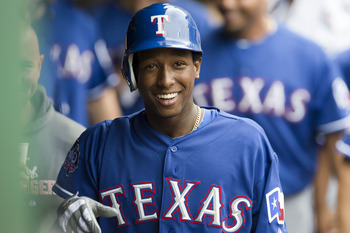 Jurickson Profar was all smiles after hitting his first career homer in his first at-bat last year, but the next time he comes up we will see the full extent of his talents.