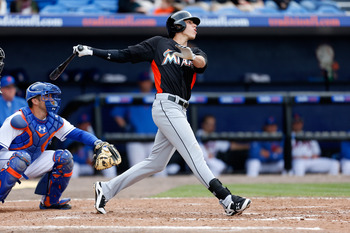Christian Yelich's ability to hit for average and power in center field is a rare commodity.