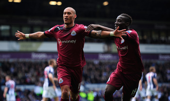 Gouffran celebrates his goal against West Brom