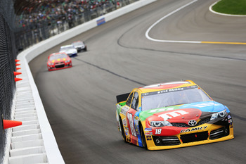 Kyle Busch likes to get out front and stay there.