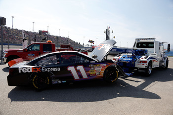 Denny Hamlin can't wait to get back behind the wheel.