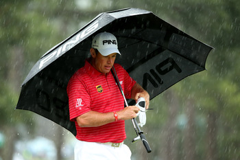 There have been a lot of rainy days in majors for Lee Westwood.