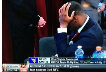 Five Stages of Geno Smith's Sad Face at the Draft