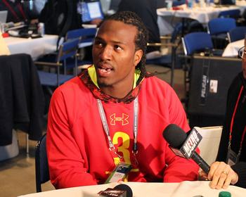 David Bass at the NFL Combine in February