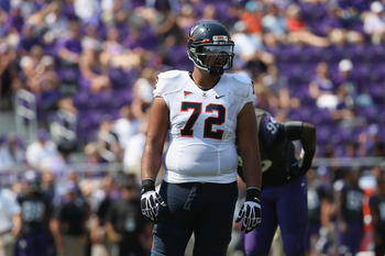 Oday Aboushi will compete with Autsin Howard for the right tackle job.
