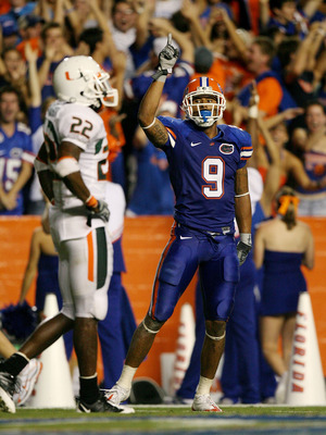 Louis Murphy celebrates during Florida's previous matchup with the Hurricanes.