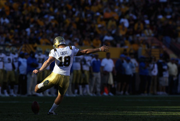 Jeff Locke was the the kickoff specialist for UCLA as well as its punter.