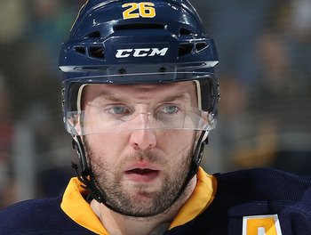 Thomas Vanek's explosive scoring could not save the Buffalo Sabres in 2013.