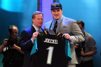 Luke Joeckel is the man for Jacksonville at right tackle.