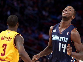 HOUSTON, TX - FEBRUARY 15:  Michael Kidd-Gilchrist #14 of the Charlotte Bobcats and Team Shaq reacts in the BBVA Rising Stars Challenge 2013 part of the 2013 NBA All-Star Weekend at the Toyota Center on February 15, 2013 in Houston, Texas. NOTE TO USER: U