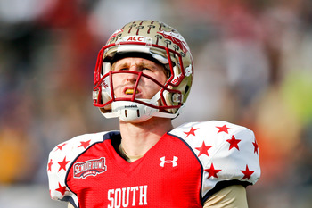 Dustin Hopkins kicked for the Senior Bowl team this year.