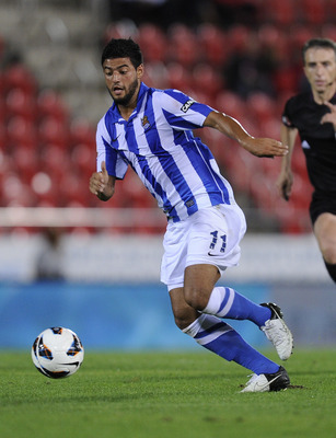 Carlos Vela leading the way in Real Sociedad's hunt for Champions League qualification.