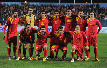 Montenegro prior to taking on England.