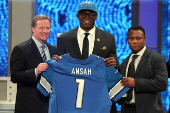 Ansah was welcomed to the Lions by a legend.