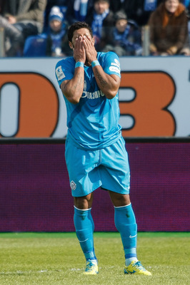 Zenit St. Petersburg's Hulk in disbelief.