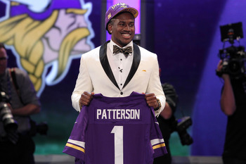 Cordarrelle Patterson caught 46 passes for 778 yards with five touchdowns in 2012 with Tennessee.