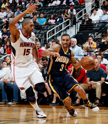 George Hill struggled in the two games in Atlanta.