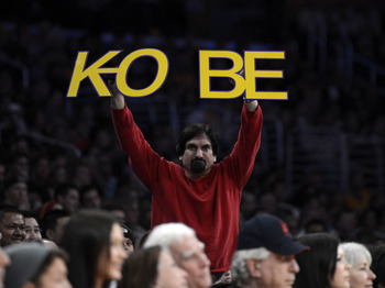 Los Angeles Lakers Fans Show Support at Staples Center