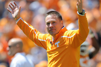 Tennessee head coach Butch Jones
