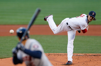 Clay Buchholz delivers a pitch during an April 25 game against the Houston Astros.