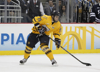Matthew Peca is coming off a great season with Quinnipiac. He projects well for his size.