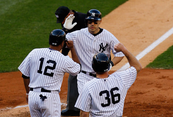 Travis Hafner and Vernon Wells stepped up for the Yankees last month.