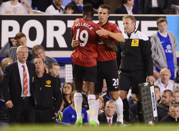 Van Persie's first Manchester United introduction at Goodison Park