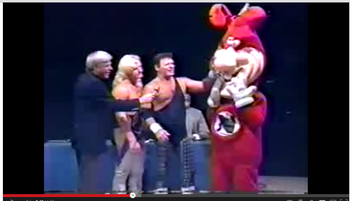 Jerry Lawler and Domino's in happier times (photo via screen shot from Youtube)