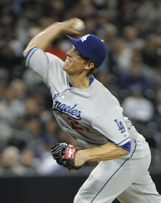 SAN DIEGO, CA - APRIL 11: Zack Greinke #21 of the Los Angeles Dodgers pitches during the fifth inning of a baseball game against the San Diego Padres at Petco Park on April 11, 2013 in San Diego, California. (Photo by Denis Poroy/Getty Images)