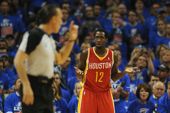 The Rockets go through spurts of good basketball and uncomposed basketball.