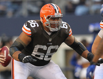 The Cleveland Browns could eventually replace guard Shawn Lauvao with Garrett Gilkey.
