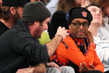 Spike Lee at New York Knicks game