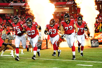The Falcons offensive line will look different next year