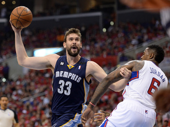 Marc Gasol pushing around DJ has been the story of this series.