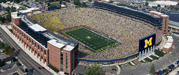 The Big House is the largest stadium in America. Photo courtesy of MGoBlue.com.