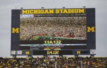 Michigan's videoboards are one of the most impressive new features the stadium offers. Photo courtesy of BTN.com.