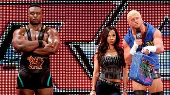 Big E. Langston is probably staring at a couple in the crowd. (Photo from WWE.com)