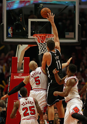 Brook Lopez has scored at least 20 points in all five games of the series.