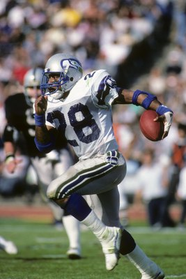 Curt Warner with the Seattle Seahawks.
