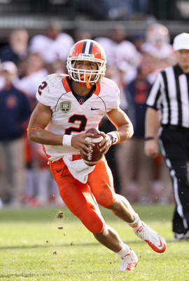 Fighting Illini quarterback Nathan Scheelhaase had a disappointing junior campaign, throwing for less than 1,500 yards with a 1:2 touchdown to interception ratio while being sacked twenty two times.