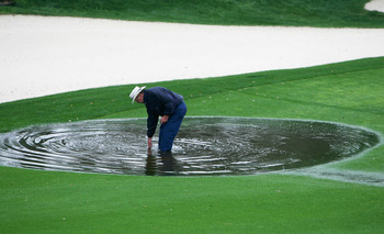 Heavy rains last week has made TPC Sawgrass very soft