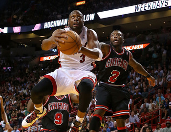 Dwyane Wade, at times, can still get high off the ground.