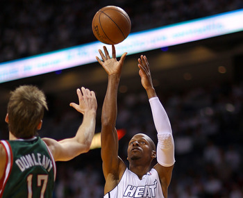 Ray Allen was lethal from the corner against the Bucks.