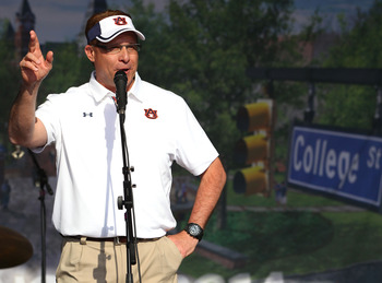 Gus Malzahn hopes to bring Auburn back from an abysmal season in 2012.